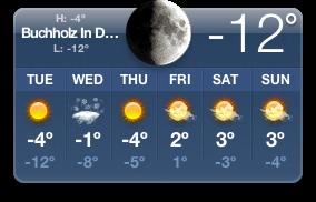 -12 Grad Celsius